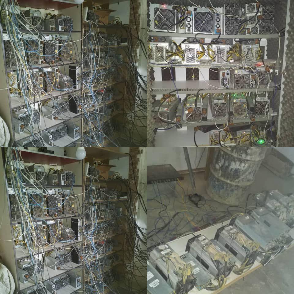 تصویر کشف و ضبط ۷۲۵ دستگاه ماینر در کاشان