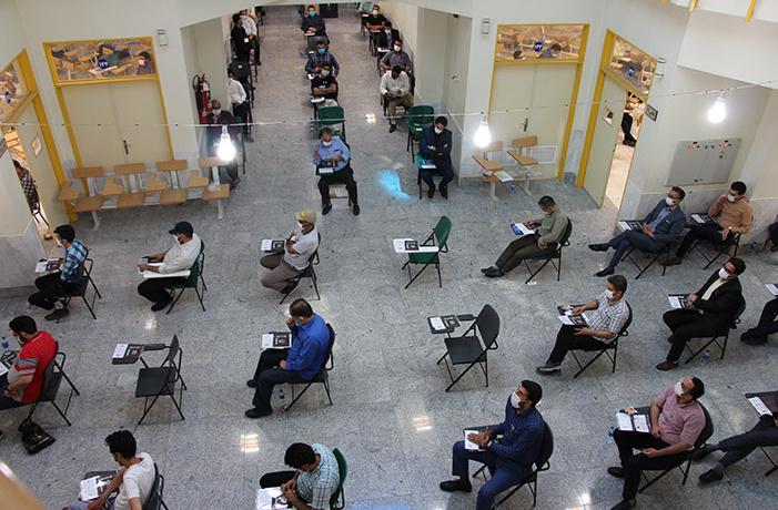 تصویر گزارش تصویری / برگزاری آزمون دکتری ۹۹ در دانشگاه کاشان