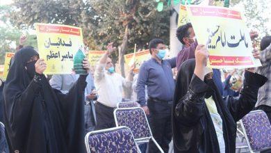 تصویر خروش مردم کاشان در محکومیت اهانت به قرآن و پیامبر اکرم(ص) بهروایت تصویر