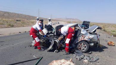 تصویر حادثه مرگبار در جاده کاشان بادرود/ ۴ نفر کشته شدند