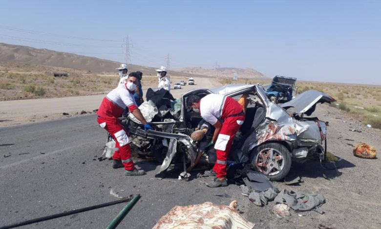 تصادف در جاده کاشان بادرود