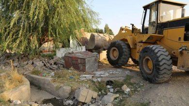 تصویر 4740 مترمربع از اراضی دولتی کاشان رفع تصرف شد
