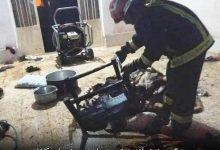 تصویر کرسی برقی در کاشان حادثه آفرین شد
